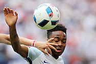 Raheem Sterling of England in action. UEFA Euro 2016, group B , England v Wales at Stade Bollaert -Delelis  in Lens, France on Thursday 16th June 2016, pic by  Andrew Orchard, Andrew Orchard sports photography.