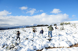 Cape Town - 180702 - People came out in their numbers to witness the good snowfall in Ceres. Ceres mountains were covered in snow after a cold front moved over the Western Cape. Severe rainstorms lashed Cape Town and other parts of the drought-stricken Western Cape overnight, leading to severe flooding in places. Picture: Henk Kruger/ANA/African News Agency
