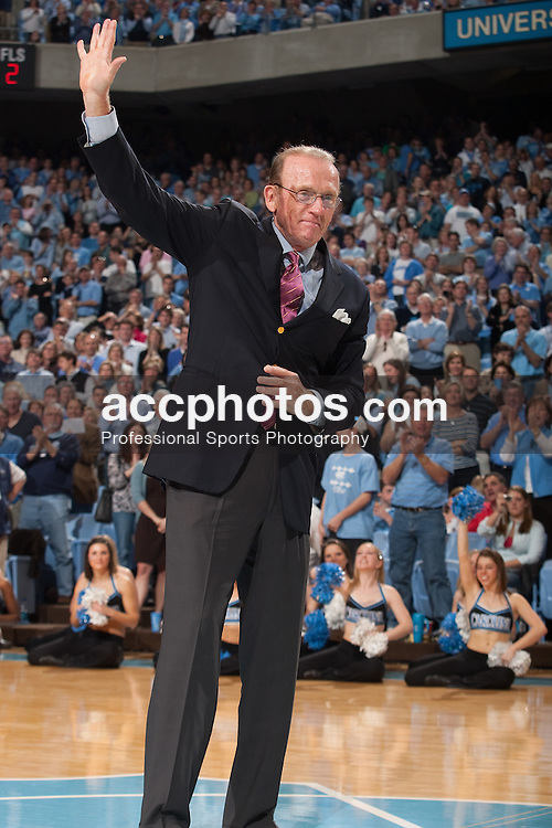 07 February 2009: Basketball hall of fame inductee Billy Cunningham at the Dean Smith Center in Chapel Hill, NC.