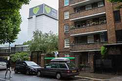London, UK. 13 June, 2019. The Grenfell Tower in North Kensington. Tomorrow, the Grenfell community will mark the second anniversary of the Grenfell Tower fire on 14th June 2017 in which 72 people died and over 70 were injured. Two years on, some family members remain in temporary accommodation and many are still traumatised. Phase 2 of the Grenfell Inquiry will begin in 2020, with criminal investigation findings expected to be sent to the Crown Prosecution Service in 2021.