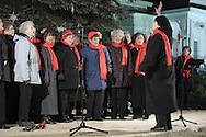Pine Bush, NY - The Sweet Adelines Song of the Valley Internationl sing during the Pine Bush Festival of Lights on Main Street on the evening of Dec. 1, 2007.