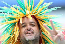 SAINT PETERSBURG, June 22, 2018  A fan of Brazil is seen prior to the 2018 FIFA World Cup Group E match between Brazil and Costa Rica in Saint Petersburg, Russia, June 22, 2018. (Credit Image: © Xu Zijian/Xinhua via ZUMA Wire)