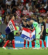 Croatia players celebrate after winning the 2018 FIFA World Cup Russia, semi-final football match between Croatia and England on July 11, 2018 at Luzhniki Stadium in Moscow, Russia - Photo Tarso Sarraf / FramePhoto / ProSportsImages / DPPI