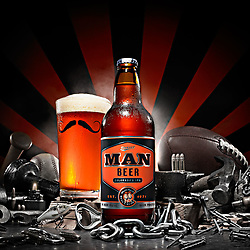 """The Man Shot"" - Man Beer by Bull & Bush Brewery"