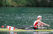 Bled, SLOVENIA,  CAN  M1X, Semi finals, Isolda PENNEY, competing iin the semi final, women's single sculls at the  FISA World Cup, Bled. Held on Lake Bled.  Saturday  29/05/2010  [Mandatory Credit Peter Spurrier/ Intersport Images]<br /> Crew