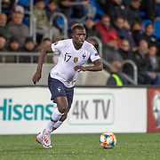 ANDORRA LA VELLA, ANDORRA. June 1. Moussa Sissoko #17 of France in action during the Andorra V France 2020 European Championship Qualifying, Group H match at the Estadi Nacional d'Andorra on June 11th 2019 in Andorra (Photo by Tim Clayton/Corbis via Getty Images)