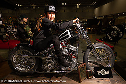 Luck Motorcycles Panhead at the Luck Motorcycles Panhead at the 27th Annual Mooneyes Yokohama Hot Rod Custom Show 2018. Yokohama, Japan. Sunday, December 2, 2018. Photography ©2018 Michael Lichter.