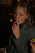 Jemma Freeman, Drinks party to launch a new Thomas Pink shirt called The Mogul which has a pocket which houses one's cigar. Hostyed by the Spectator and Thomas Pink. Floridita. Wardour St. London. 1 November 2006. -DO NOT ARCHIVE-© Copyright Photograph by Dafydd Jones 66 Stockwell Park Rd. London SW9 0DA Tel 020 7733 0108 www.dafjones.com