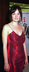 TV presenter and actress KATY HASWELL at a film premier party in London on 14th November 2000.OJB 107