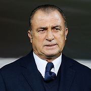 Turkey's coach Fatih Terim during their UEFA Euro 2016 qualification Group A soccer match Turkey betwen Kazakhstan at AliSamiYen Arena in Istanbul November 16, 2014. Photo by Kurtulus YILMAZ/TURKPIX