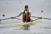 Plovdiv, Bulgaria, 10th May 2019, FISA, Rowing World Cup 1,  MEX M1X, Juan Carlos CABRERA, at the start, of a heat of the Men's Single Sculls, © Peter SPURRIER,