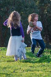 Kiera and Luke, Eltham College Environmental Reserve, Research, Victoria, Australia