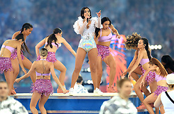Dua Lipa performs during the UEFA Champions League Final at the NSK Olimpiyskiy Stadium, Kiev.