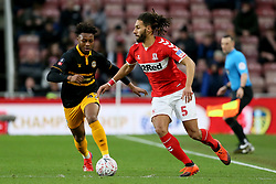 Middlesbrough's Ryan Shotton (right) and Newport County's Antoine Semenyo during the FA Cup fourth round match at Riverside Stadium, Middlesbrough.