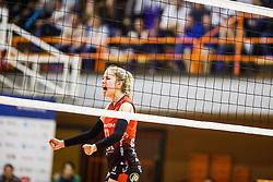 Anita Sobocan of Nova KBM Branik during the volleyball match between Calcit Ljubljana and Nova KBM Maribor at 2017 Slovenian Women Cup Final, on March 18th, 2017, SD Planina, Kranj, Slovenia. Photo by Grega Valancic / Sportida