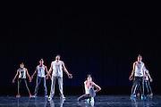 Santa Clara University's Department of Theatre & Dance performs during the Choreographer's Gallery dress rehearsal at Louis B. Mayer Theatre at Santa Clara University in Santa Clara, California, on December 1, 2015. (Stan Olszewski/SOSKIphoto)
