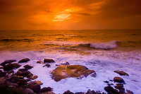 Camp's Bay (near Cape Town) at sunset, South Africa