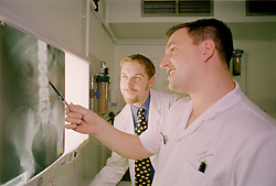 Behind the scenes in the Xray department, at Sheffield Northern General Hospital