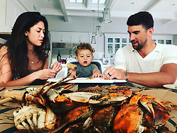 "Michael Phelps releases a photo on Instagram with the following caption: ""Dinner time !!! @mamaphelpsh20 sent us some amazing crabs for my bday!! @jimmysseafood #earlybday #teachhingboom #bmore"". Photo Credit: Instagram *** No USA Distribution *** For Editorial Use Only *** Not to be Published in Books or Photo Books ***  Please note: Fees charged by the agency are for the agency's services only, and do not, nor are they intended to, convey to the user any ownership of Copyright or License in the material. The agency does not claim any ownership including but not limited to Copyright or License in the attached material. By publishing this material you expressly agree to indemnify and to hold the agency and its directors, shareholders and employees harmless from any loss, claims, damages, demands, expenses (including legal fees), or any causes of action or allegation against the agency arising out of or connected in any way with publication of the material."