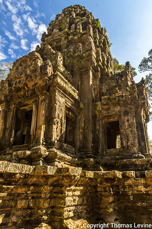 One of the ruins  pointing up to the sky at Thommanom Temple in Camboida