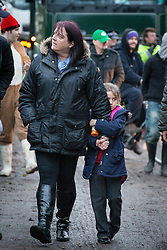 © Licensed to London News Pictures . 27/11/2013 . Manchester , UK . Protesters walk slowly in front of lorries leaving the site . Energy firm IGas have today (Wednesday 27th November 2013) been receiving drilling equipment in readiness for exploratory drilling at the site . Anti fracking protesters have established a camp at Barton Moss in Greater Manchester alongside an access road leading to an IGas drilling site .  Photo credit : Joel Goodman/LNP