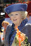 Koninginnedag 2012 in de Utrechtse gemeente Rhenen.// Queensday 2012 in the city of Rhenen.<br /> <br /> Op de foto:  Koningin Beatrix