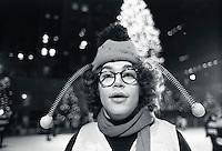 Saturday Night Live Bumble Bee Al Franken ice skating at Rockefeller Center --- Image by © Owen Franken/CORBIS