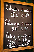 Sign for Calvados cider, Honfleur, Normandy, France