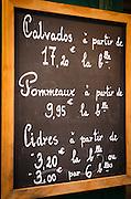 Sign for Calvados cider, Honfleur, Normandy, France