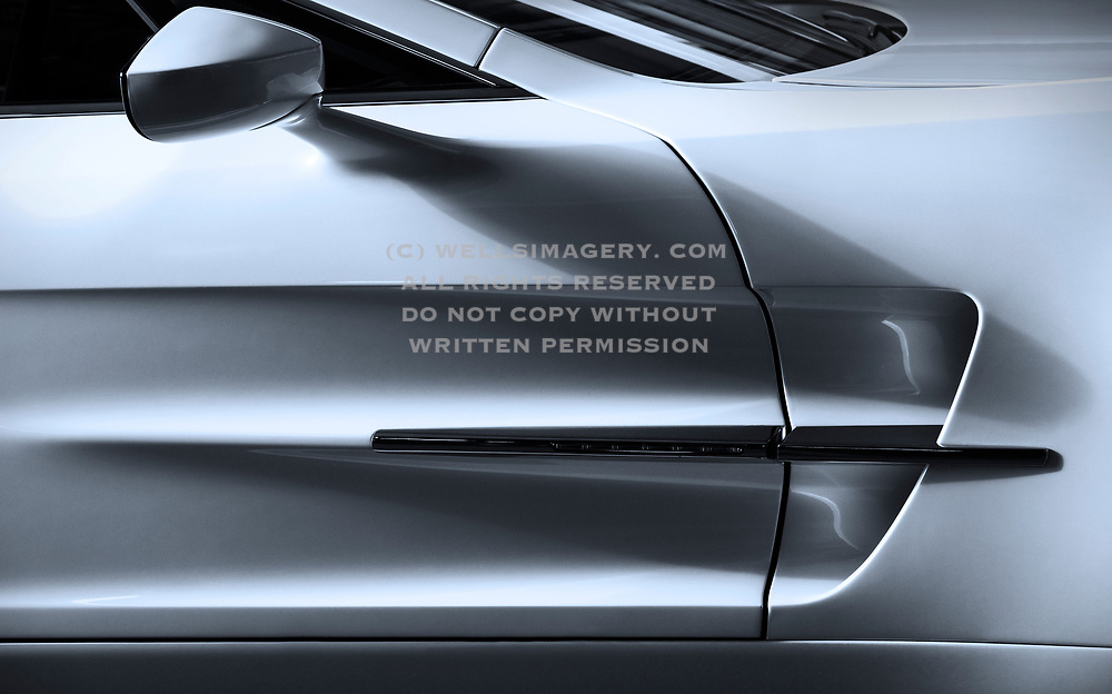 Image detail of a One-77 Aston Martin in Sun Valley, Idaho, Pacific Northwest by Randy Wells