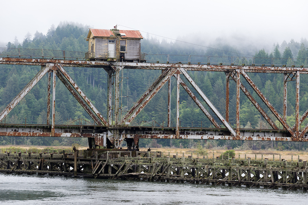 Cushman Railroad Bridge, built in 1914, is a swing bridge over the Siuslaw River in Western Oregon.
