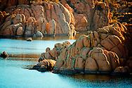 Sunlit rocks in Watson Lake - Prescott, AZ