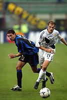 Milano 30/09/2003 <br />Champions League <br />Inter Dynamo Kyiv 2-1 <br />Kili Gonzalez (Inter) and Georgi Peev (Dinamo)<br />Foto Andrea Staccioli Graffiti