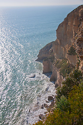 View of cliff near atlantic ocean