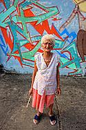 Woman and Os Gemeos, Pinar del Rio, Cuba.