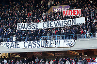 Fotball<br /> Frankrike<br /> Foto: Dppi/Digitalsport<br /> NORWAY ONLY<br /> <br /> FOOTBALL - FRENCH CHAMPIONSHIP 2007/2008 - L1 -PARIS SG v TOULOUSE FC - 15/12/2007 - PSG FANS ANGRY AGAINST THEIR TEAM