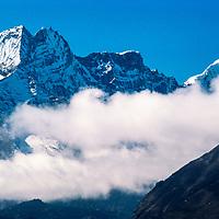 Kwangde Peak in the Khumbu region of Nepal 1986.