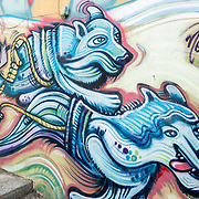 Graffiti painted on walls in Ushuaia, Argentina.