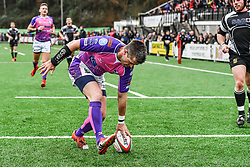 Pontypridd's Ceri Sweeney scores his sides second try' - Mandatory by-line: Craig Thomas/Replay images - 30/12/2017 - RUGBY - Sardis Road - Pontypridd, Wales - Pontypridd v Bedwas - Principality Premiership