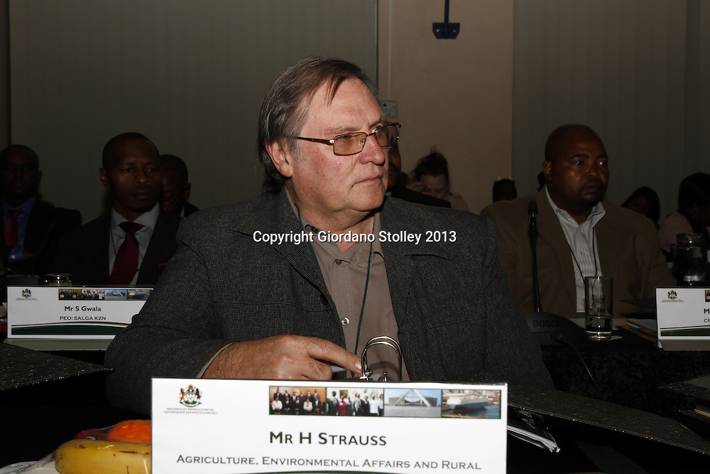 DURBAN - 20 August 2013 - Harry Strauss, the acting head of the KwaZulu-Natal Agriculture, Environmental Affairs and Rural Development department attends a provincial cabinet lekgotla (meeting) to review the work of the provincial government in the past year and what it needs to achieve in the coming year. Picture: Giordano Stolley