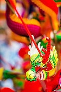 """09 FEBRUARY 2013 - BANGKOK, THAILAND: A stylized snake for sale for Chinese New Year in Bangkok. Bangkok has a large Chinese emigrant population, most of whom settled in Thailand in the 18th and 19th centuries. Chinese, or Lunar, New Year is celebrated with fireworks and parades in Chinese communities throughout Thailand. The coming year will be the """"Year of the Snake"""" in the Chinese zodiac.    PHOTO BY JACK KURTZ"""