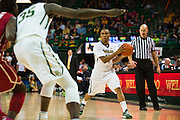 WACO, TX - JANUARY 24: Lester Medford #11 of the Baylor Bears brings the ball up court against the Oklahoma Sooners on January 24, 2015 at the Ferrell Center in Waco, Texas.  (Photo by Cooper Neill/Getty Images) *** Local Caption *** Lester Medford