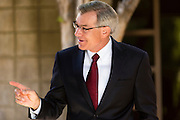 09 NOVEMBER 2013 - PHOENIX, AZ:  US Representative DAVID SCHWEIKERT (R-AZ), talks to constituents in front of his district office in Scottsdale. Congressman Schweikert represents Arizona's 6th Congressional District. Most of the district is in Scottsdale, a wealthy suburb of Phoenix and one of the wealthiest cities in the United States. Schweikert is a staunch conservative and popular with the Tea Party. He supported the government shutdown in October.    PHOTO BY JACK KURTZ