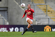 Manchester United Women midfielder Katie Zelem (captain) (10) passes the ball during the FA Women's Super League match between Manchester United Women and BIrmingham City Women at Leigh Sports Village, Leigh, United Kingdom on 24 January 2021.