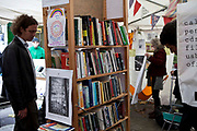 the university library at Occupy London OSLX, St Pauls Catherdral, London.