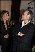 MARIE HELVIN; DAVID DOWNTON, Private view, Paul Simonon- Wot no Bike, ICA Nash and Brandon Rooms, London. 20 January 2015