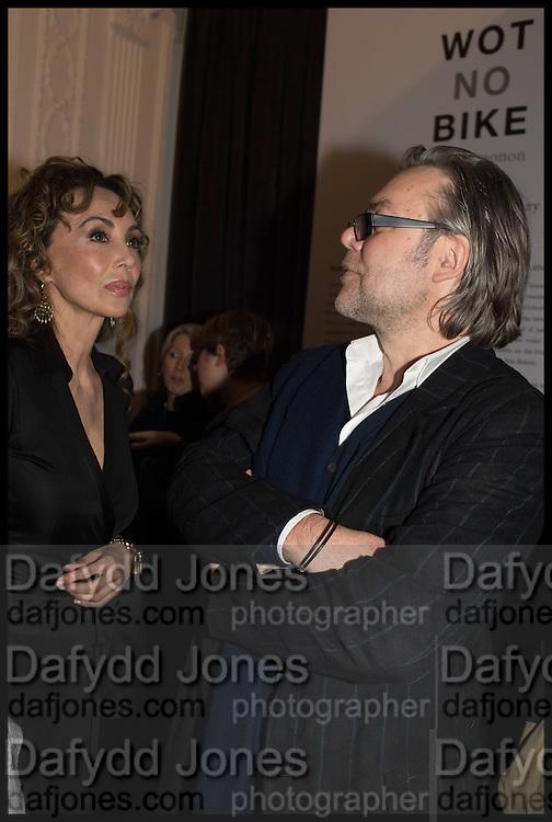 MARIE HELVIN; DAVID DOWNTON, Private view, Paul Simonon- Wot no Bike, ICA Nash and Brandon Rooms, London. 20 January 2015