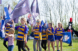 Clevedon rugby players during half-time at Bristol v Saracens - Mandatory by-line: Paul Knight/JMP - 09/04/2017 - RUGBY - Cleve RFC - Bristol, England - Bristol Ladies v Saracens Women - RFU Women's Premiership Play-off Semi-Final