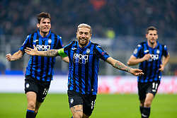 November 26, 2019, Milano, Italy: alejandro dario gomez (atalanta) celebrates per the golduring Tournament round - Atalanta vs Dinamo Zagreb , Soccer Champions League Men Championship in Milano, Italy, November 26 2019 - LPS/Francesco Scaccianoce (Credit Image: © Francesco Scaccianoce/LPS via ZUMA Wire)