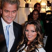 NLD/Amsterdam/20121126- Kika veiling 2012 foto's Veronica gids, Geert Wilders en Tatjana Simic